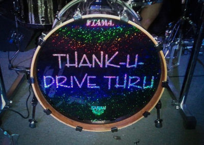 Thank U Drive Thru Bass Drum Head